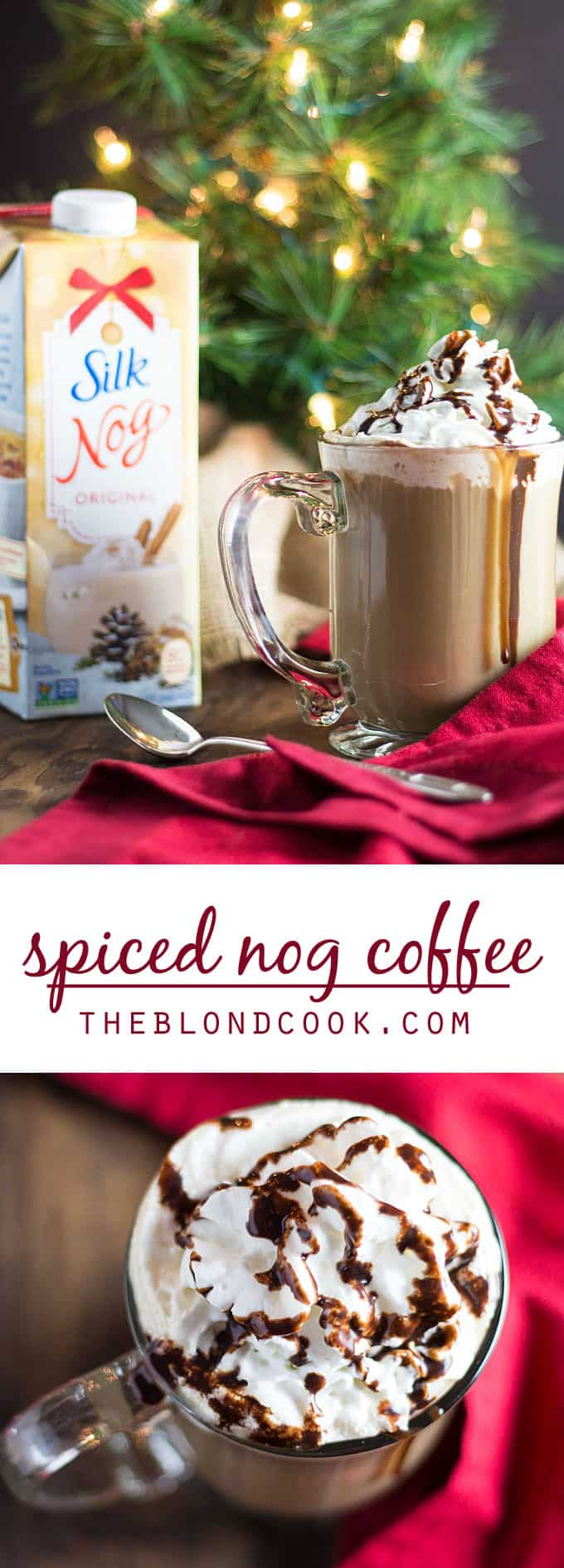 Spiced Nog Coffee Cocktail – Nog, coffee and spiced rum make the ultimate holiday cocktail!