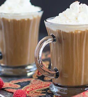 White Chocolate Raspberry Coffee Cocktail