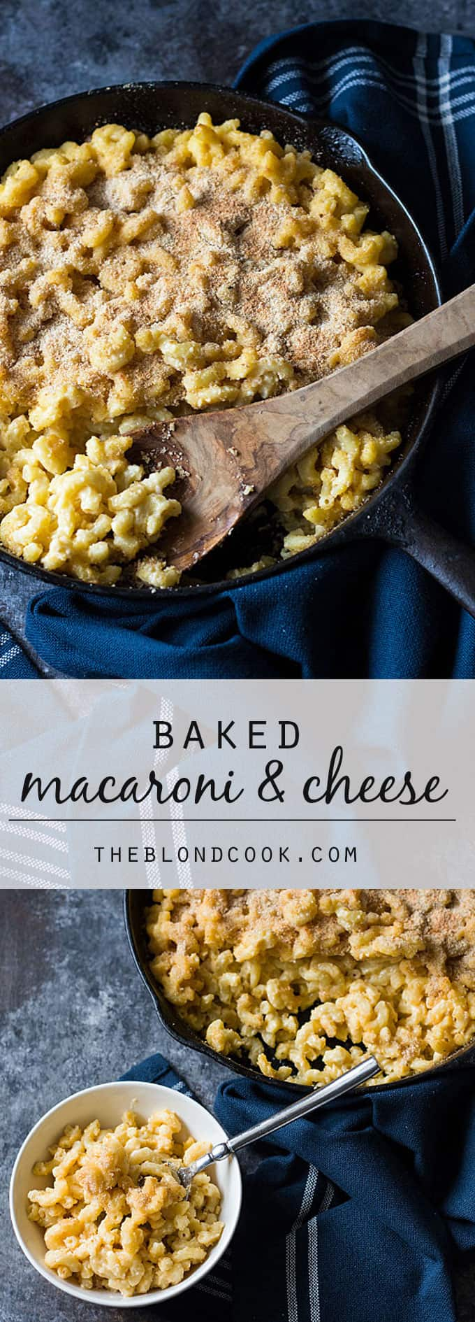 Baked Macaroni and Cheese -- Creamy and cheesy with a crunchy bread crumb topping.