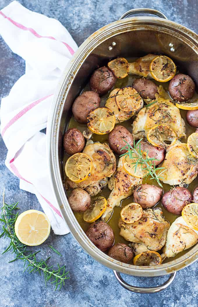 Lemon-Herb Chicken and Potatoes -- A simple and satisfying one dish dinner!