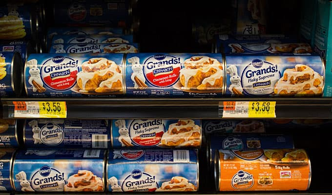 Pillsbury Grands Cinnamon Rolls at Wal Mart