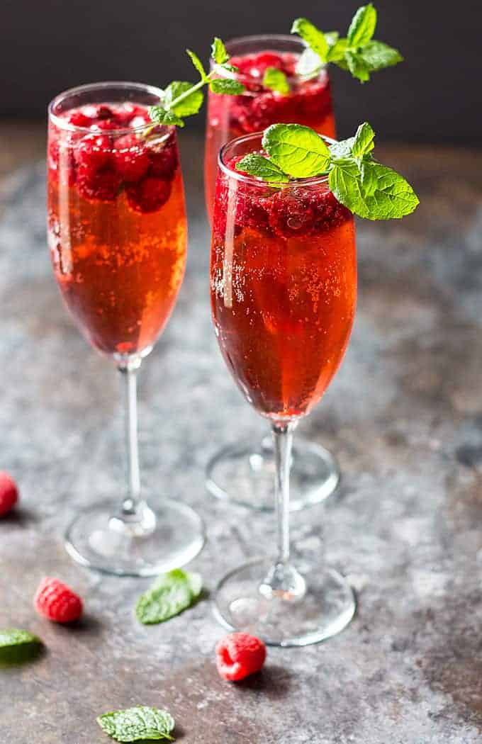 Raspberry Champagne Rum Punch | The Blond Cook