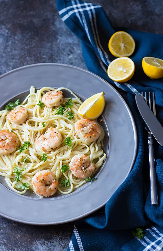 Easy Shrimp Scampi -- quick, simple and delicious!