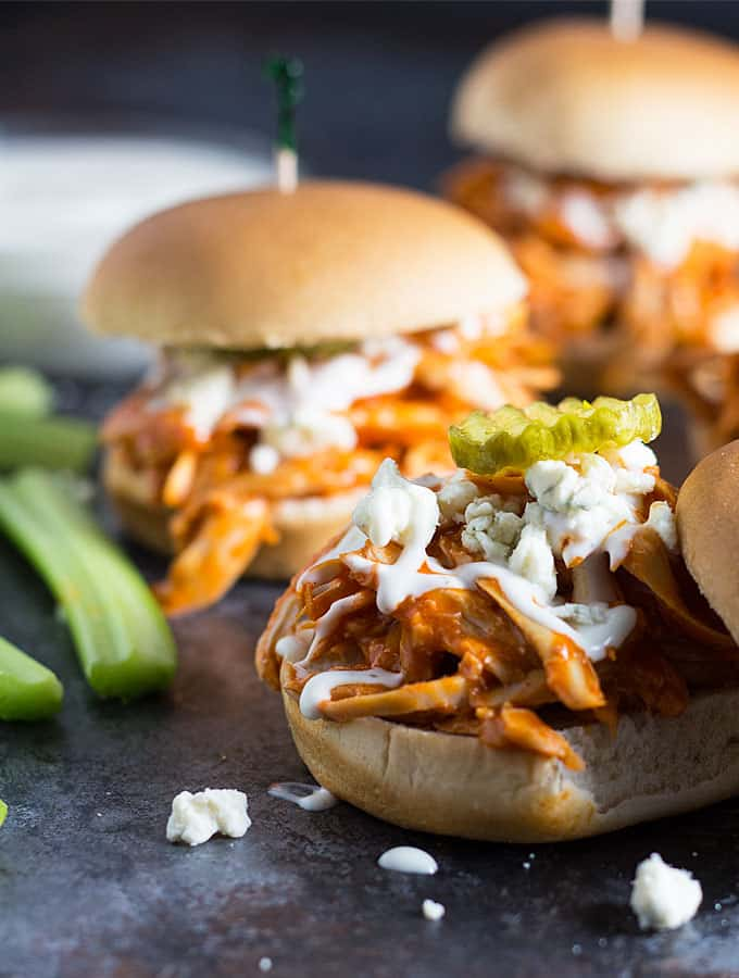 recipe: easy buffalo chicken sliders [15]