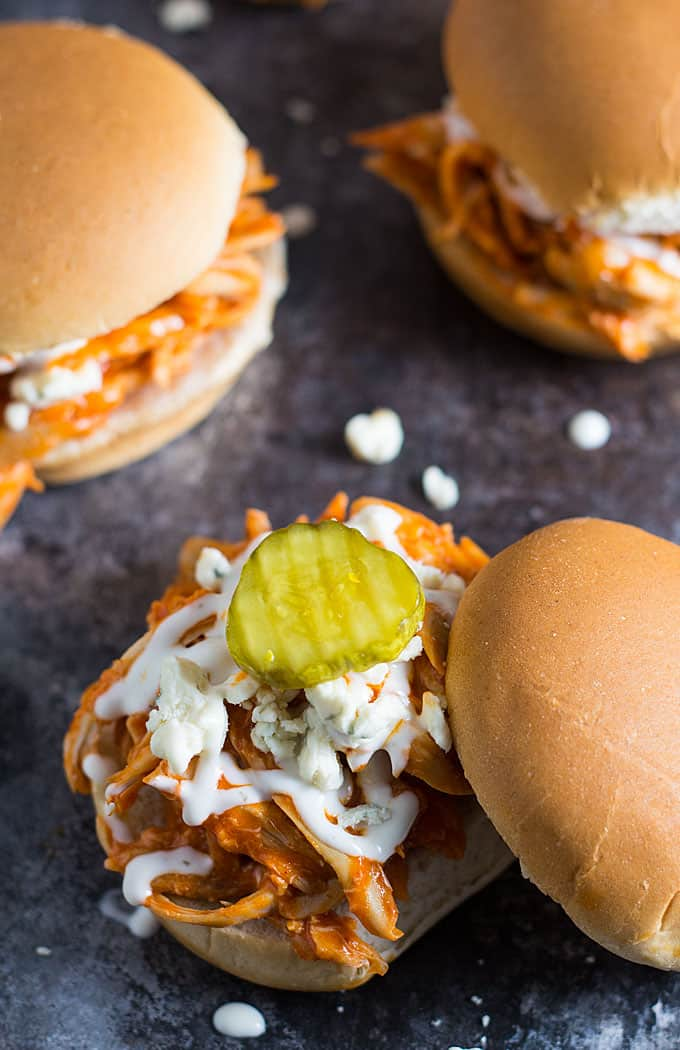 recipe: easy buffalo chicken sliders [10]