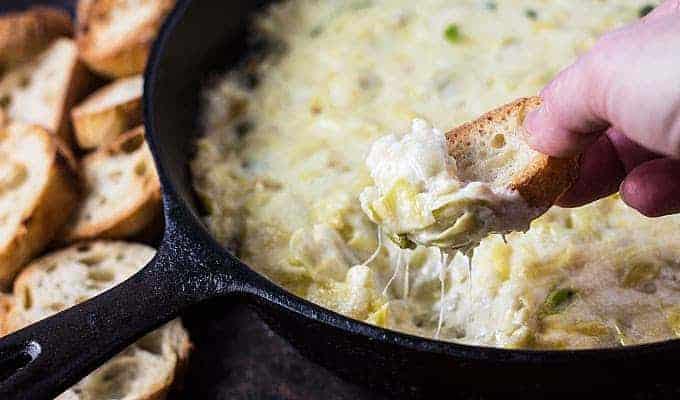 Cheesy Baked Artichoke Dip