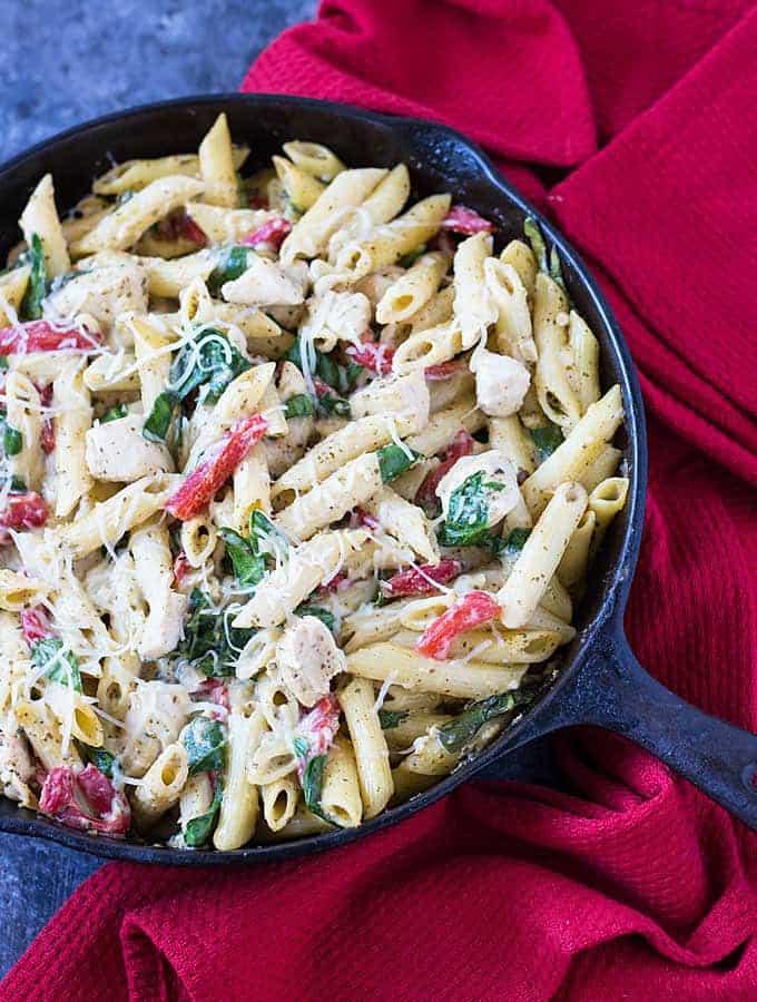 Chicken Pesto Pasta Bake | The Blond Cook