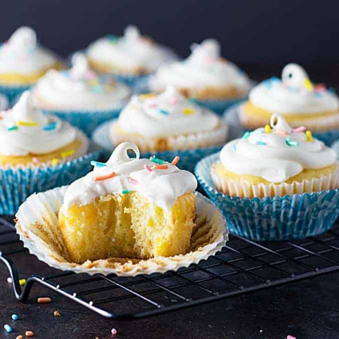 Easy Mandarin Orange Cupcakes
