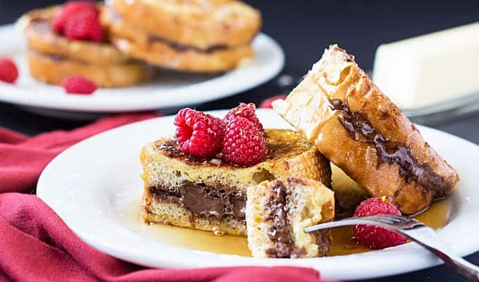 Nutella Stuffed French Toast | The Blond Cook