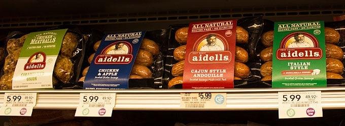 Aidells Sausage at Publix