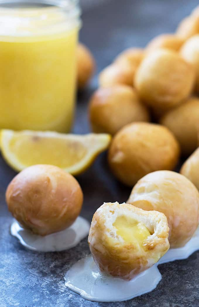 Easy Donut Holes with Canned Biscuits - So quick, easy & delicious! Make them plain or fill with your favorite filling!