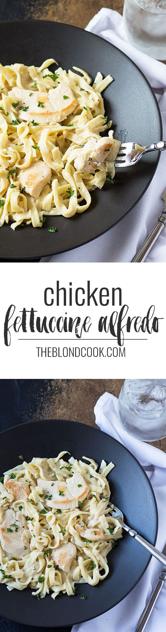 Creamy Chicken Fettuccine Alfredo - A quick and delicious meal in one skillet with the help of Tyson Meal Kits!