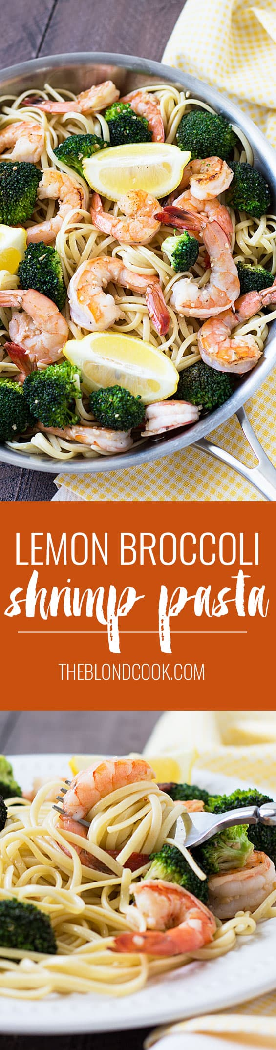 Lemon Broccoli Shrimp Pasta - An easy, light and flavorful shrimp dish that's perfect any night of the week!