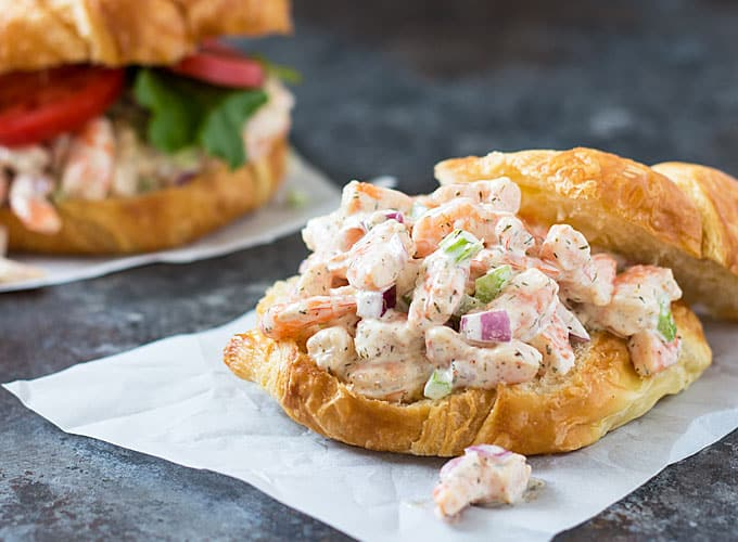 Shrimp Salad - Shrimp in a creamy salad seasoned with Old Bay and dill weed | theblondcook.com