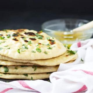 Homemade Naan is easier than you think! Soft, buttery and puffy Indian flatbread recipe | theblondcook.com