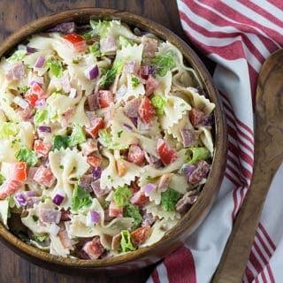 BLT Pasta Salad | theblondcook.com