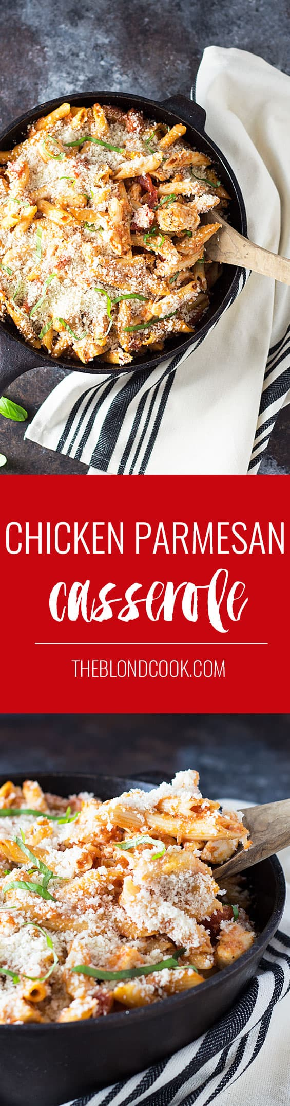 Chicken Parmesan Casserole - All of the goodness of Chicken Parmesan in an easy casserole!