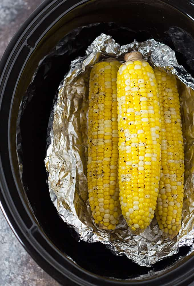 EASY Crockpot Corn on the Cob - Let your slow cooker do the work!