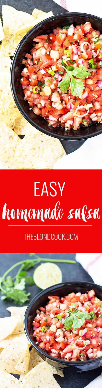 Easy Homemade Salsa   theblondcook.com