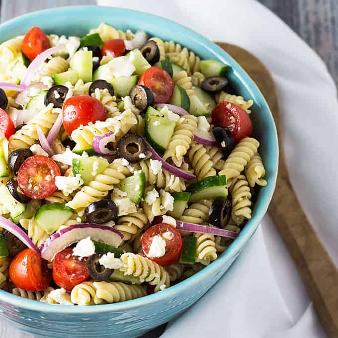 Greek Pasta Salad | The Blond Cook