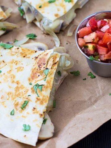 Mushroom Quesadillas | theblondcook.com
