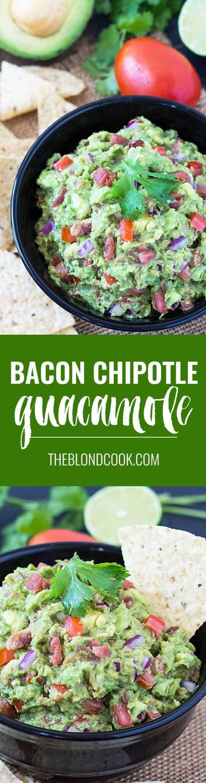 Bacon Chipotle Guacamole | theblondcook.com