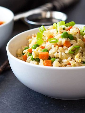 EASY Fried Rice - full of veggies and better than takeout!