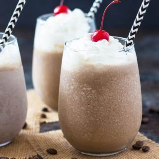 Mocha Coffee Colada - A refreshing frozen coffee cocktail!