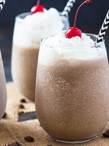 Mocha Coffee Colada - A refreshing frozen coffee cocktail!
