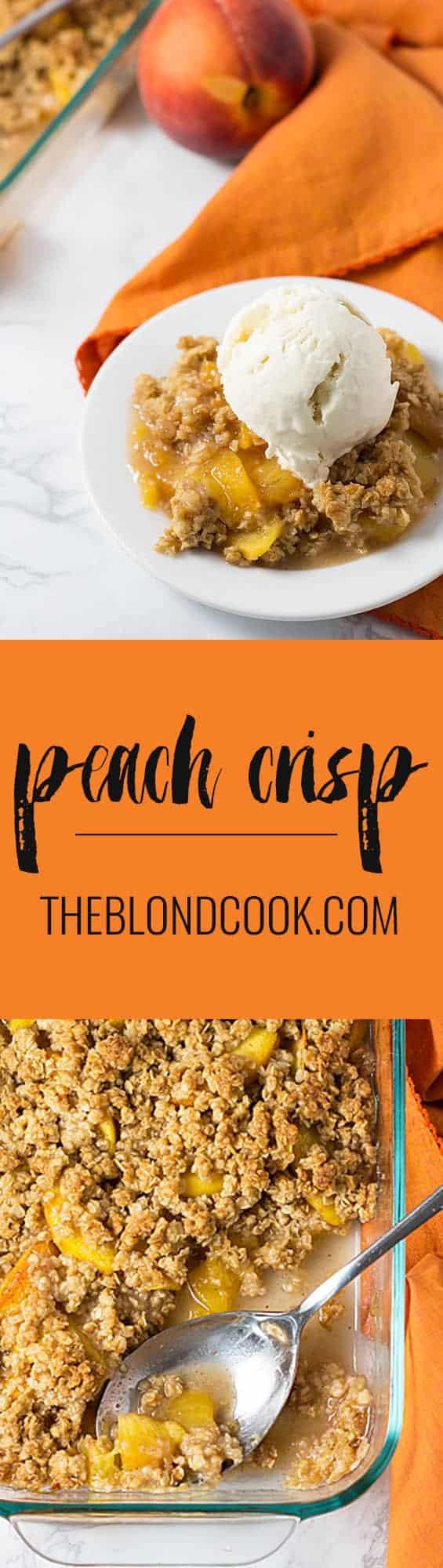 Peach Crisp   theblondcook.com