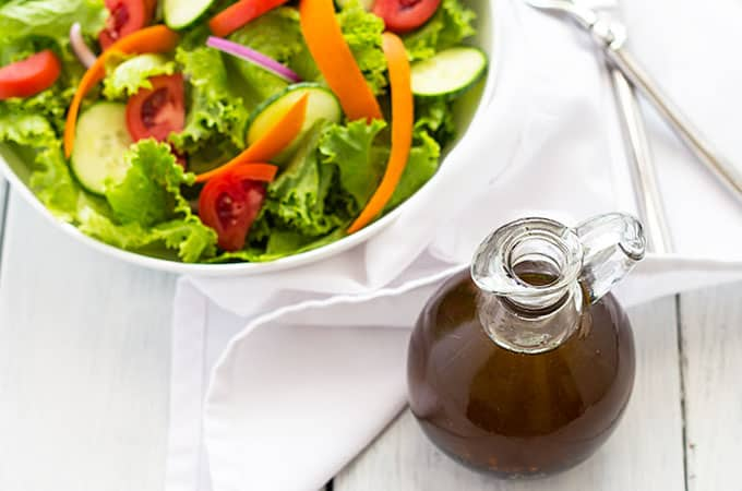 Homemade Balsamic Vinaigrette - Why buy store-bought when you can throw this sweet and tangy dressing together in just 5 minutes flat!