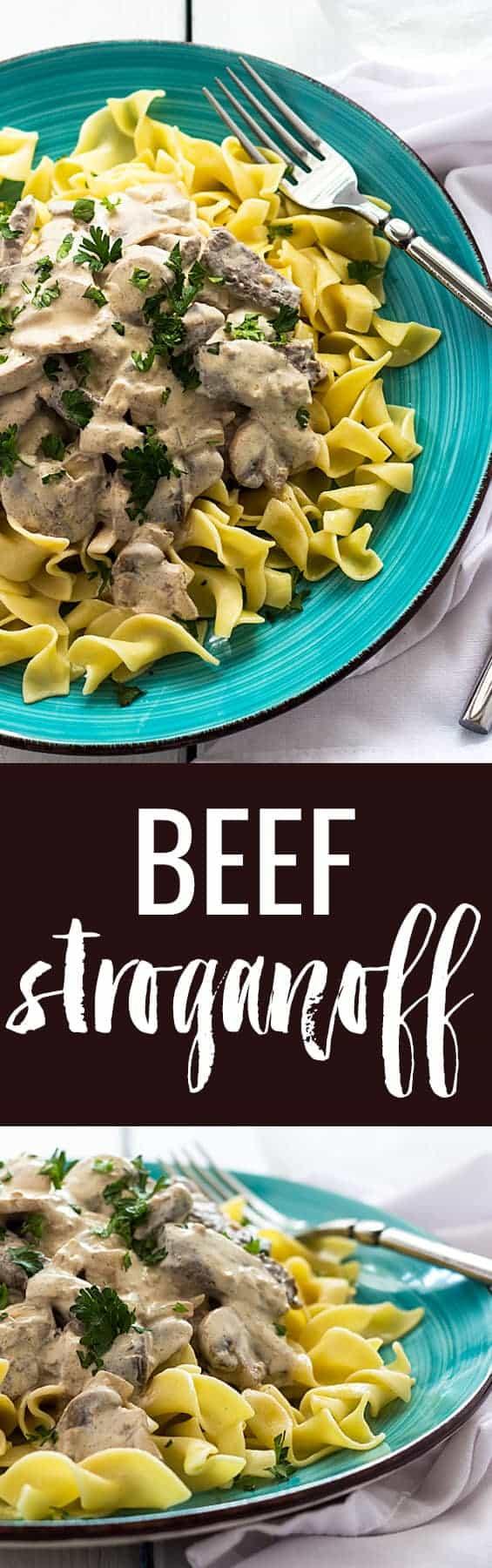 Beef Stroganoff - The ultimate comfort food in just 30 minutes!