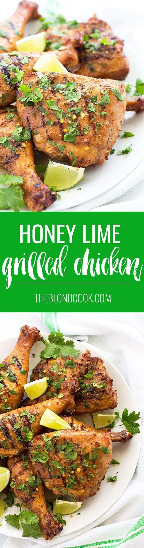Honey Lime Grilled Chicken   theblondcook.com