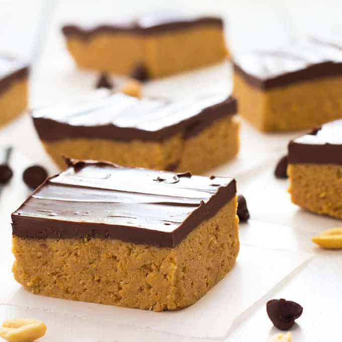 Chocolate Peanut Butter No Bake Desserts