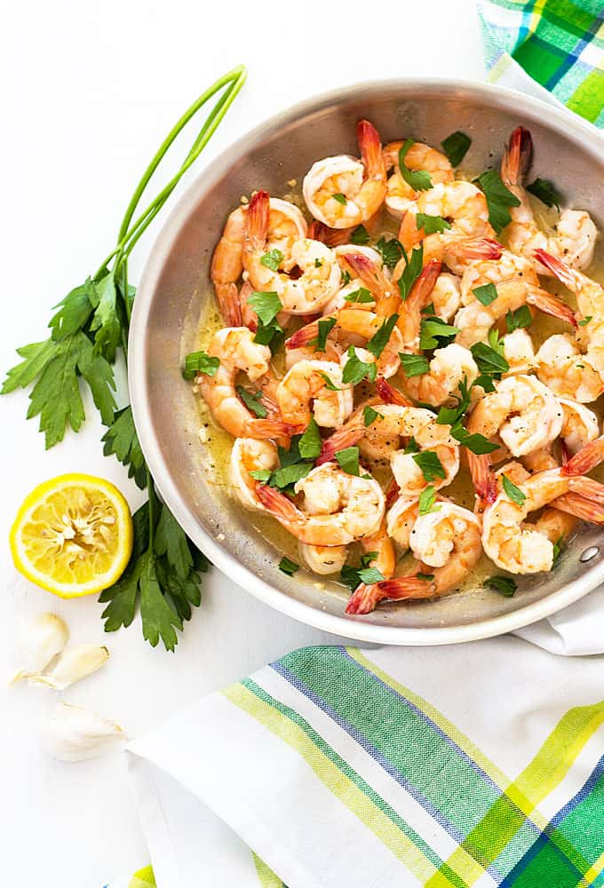 15 Minute Buttery Garlic Shrimp