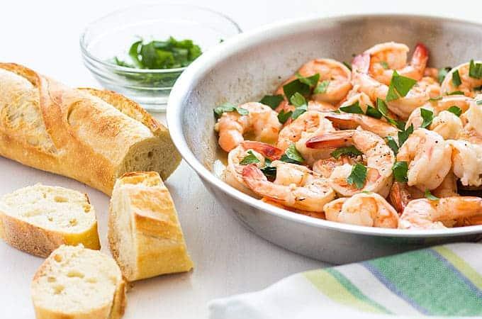 15 Minute Buttery Garlic Shrimp