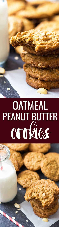 Oatmeal Peanut Butter Cookies | theblondcook.com