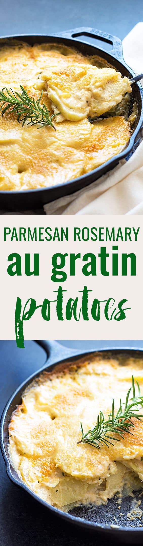 Parmesan Rosemary Au Gratin Potatoes | theblondcook.com