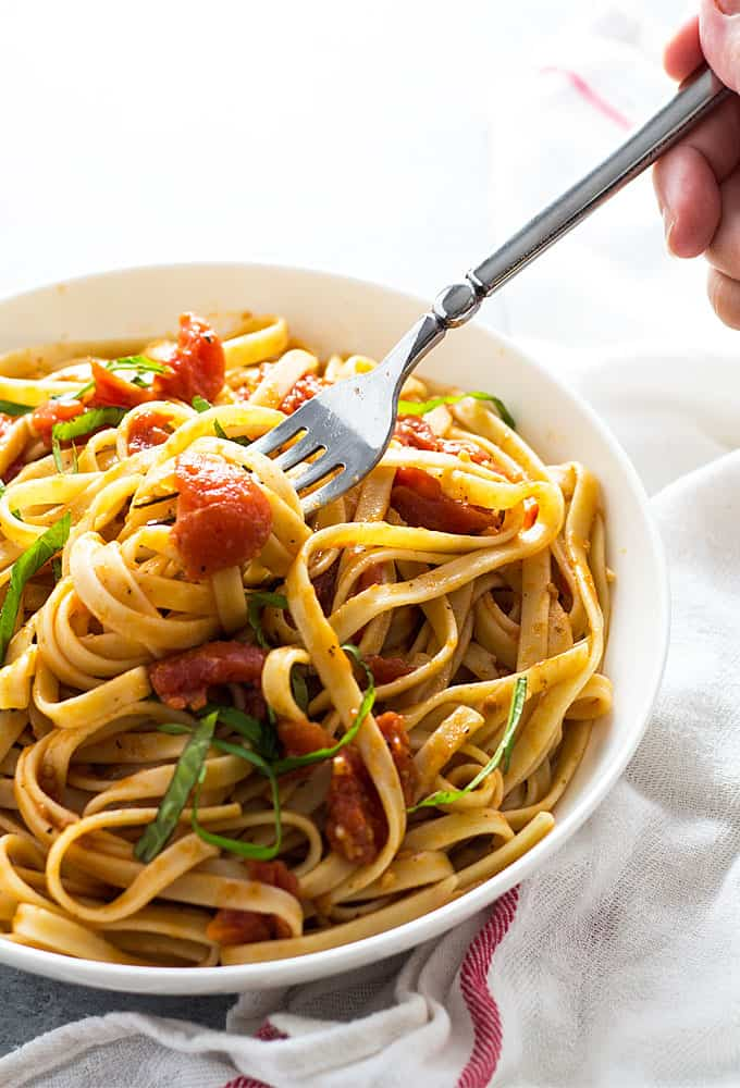 Pasta with Tomato Butter Sauce