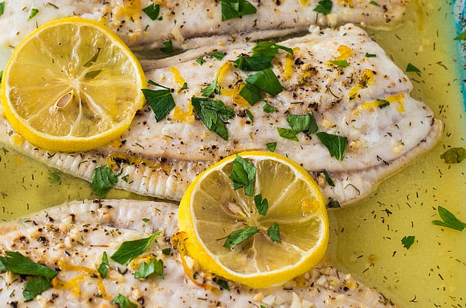 Baked Lemon Butter Flounder