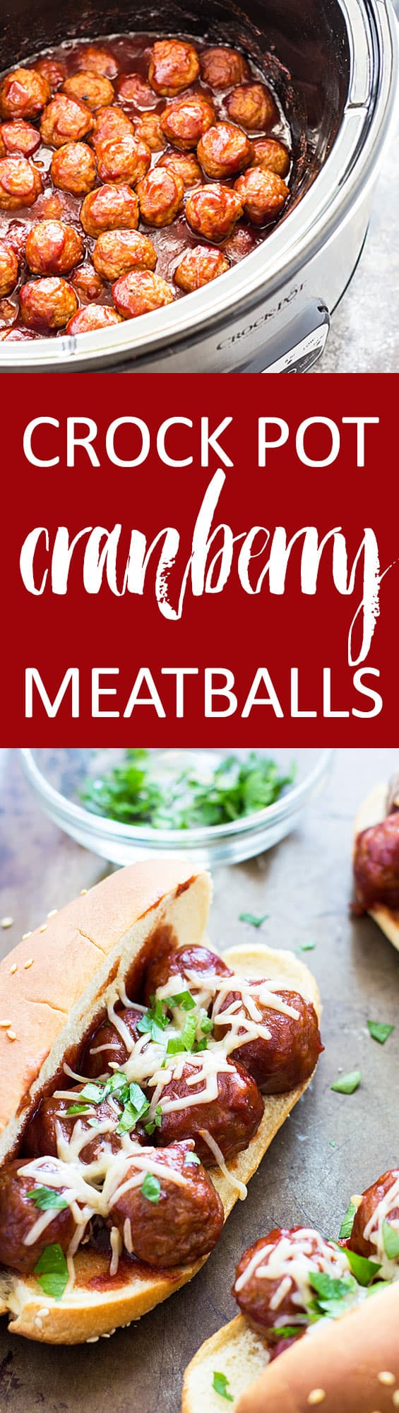 Crock Pot Cranberry Meatballs