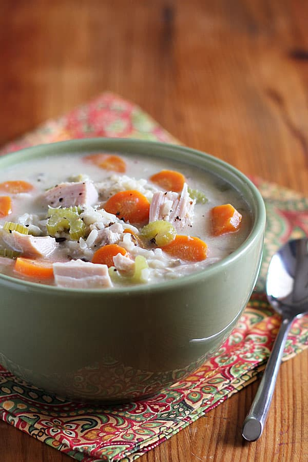 Turkey and Wild Rice Soup - Leftover turkey recipes