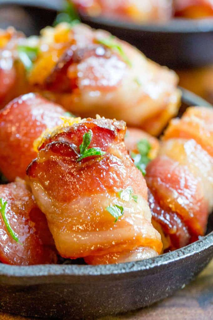 Bacon Wrapped Tater Tot Bombs | Dinner, then Dessert