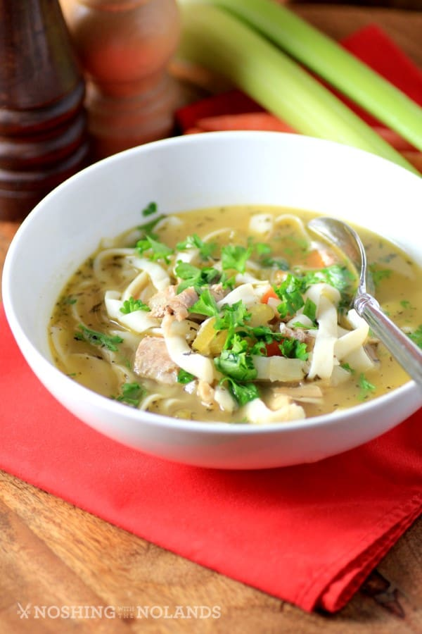 Easy Light Turkey Noodle Soup - Leftover Turkey Recipes