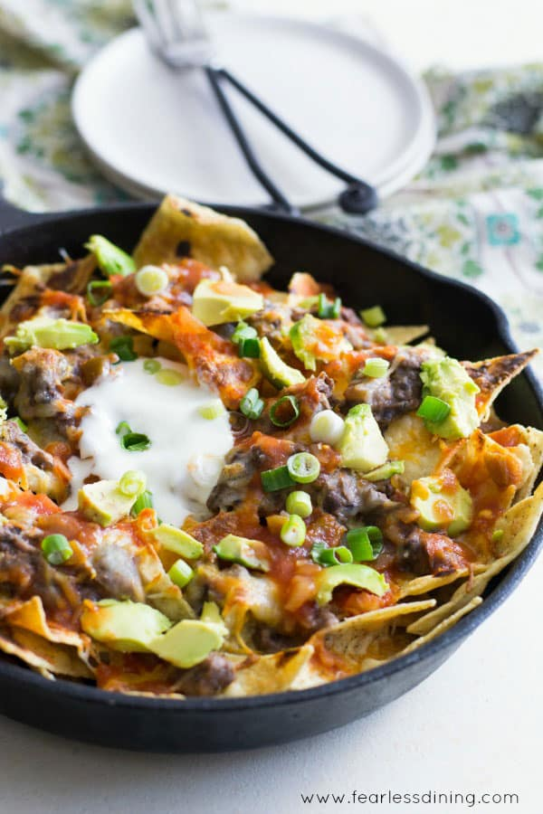 Game Day Black Bean Dip and Skillet Nachos | Fearless Dining