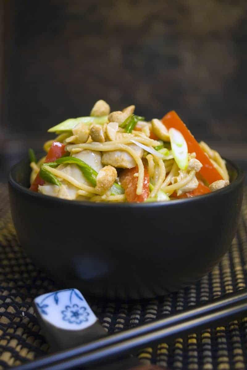Thai Peanut Turkey and Noodles - Leftover Turkey Recipes