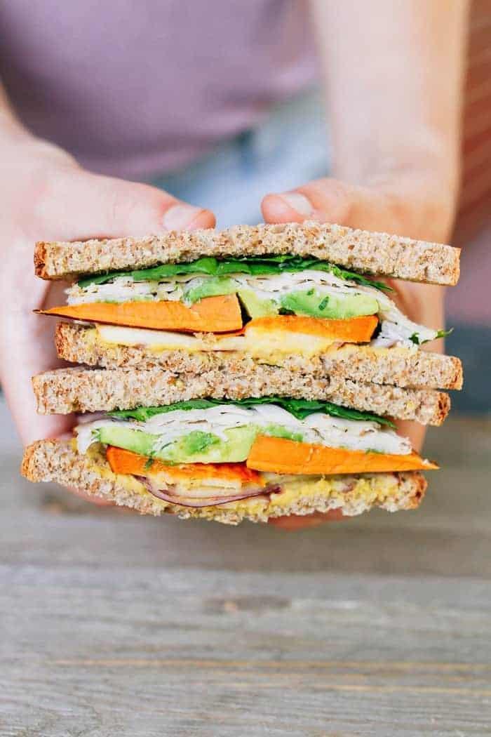 Sweet Autumn Turkey Sandwich - Leftover turkey recipes