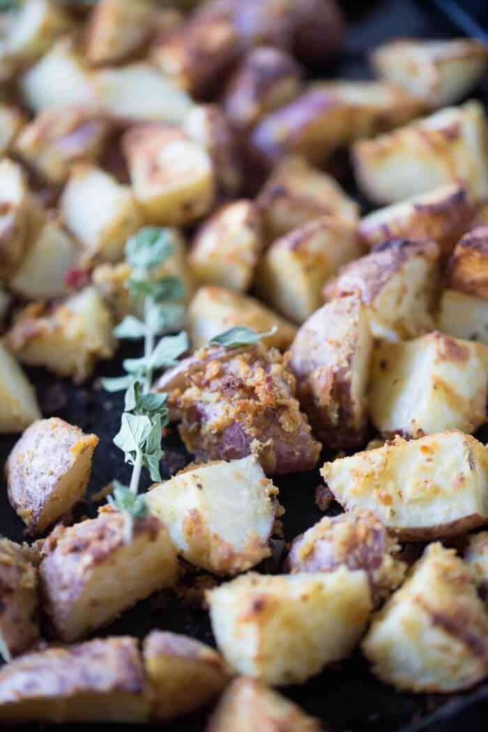 Hummus Roasted Potatoes