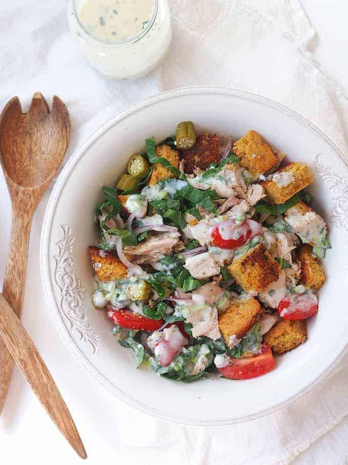 Turkey and Cornbread Panzanella - Leftover Turkey Recipes