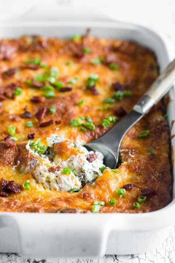 Baked Spinach Bacon Dip | Nutmeg Nanny
